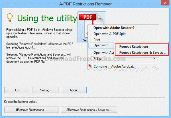 A-PDF Restrictions Remover