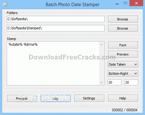 Batch Photo Date Stamper