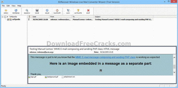 Bitrecover Windows Live Mail Converter Wizard