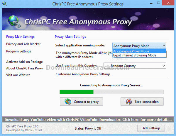 ChrisPC Free Anonymous Proxy