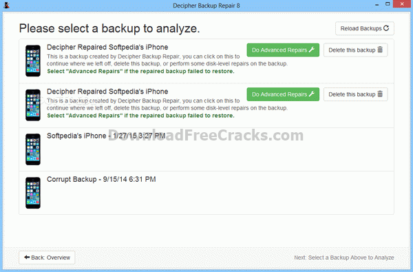 Decipher Backup Repair