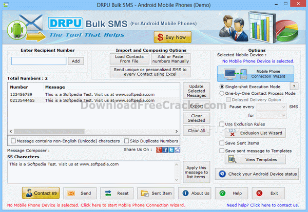 DRPU Bulk SMS - Android Mobile Phones