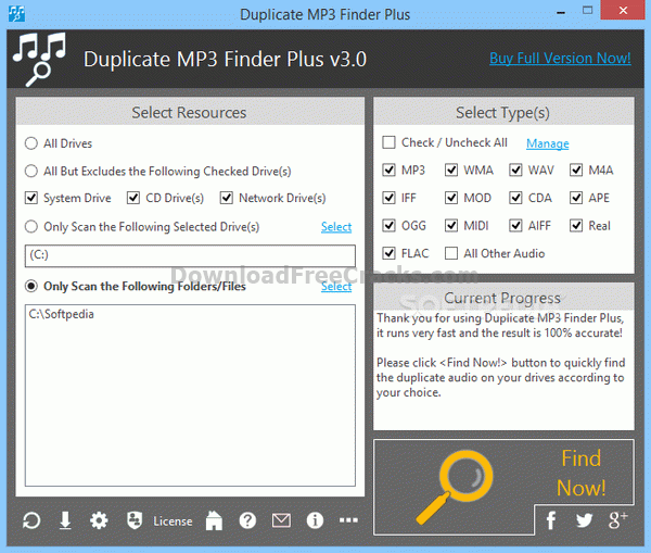Duplicate MP3 Finder Plus