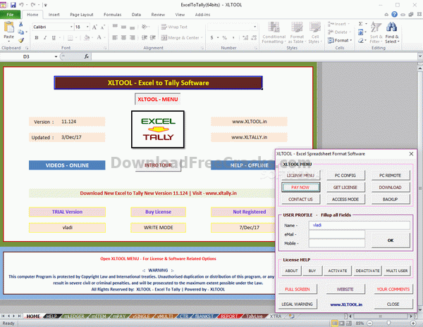XLTOOL - Excel To Tally Software