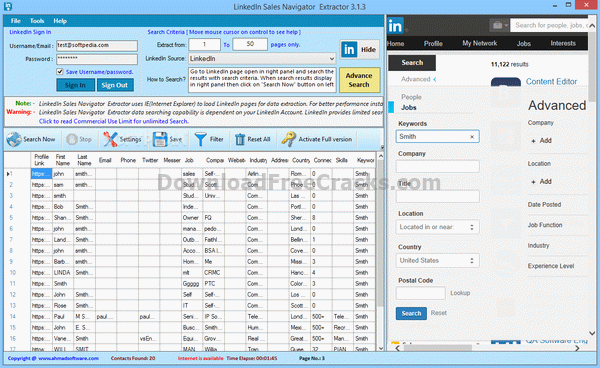 LinkedIn Sales Navigator Extractor