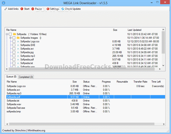 MEGA Link Downloader