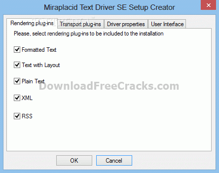 Miraplacid Text Driver SDK