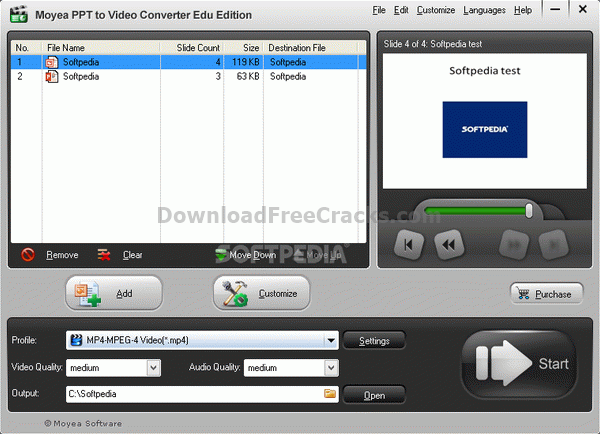 Moyea PPT to Video Converter Edu Edition