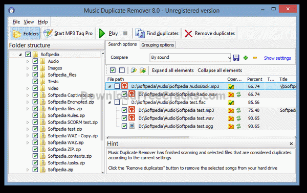 Music Duplicate Remover