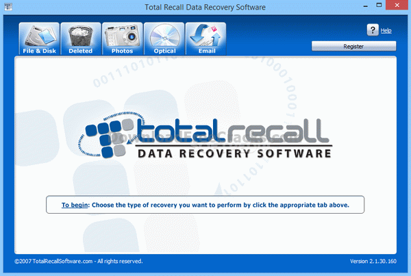 Total Recall Data Recovery Software